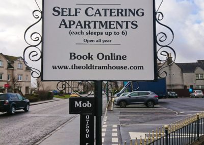 The Old Tram House Apartments Exterior Sign